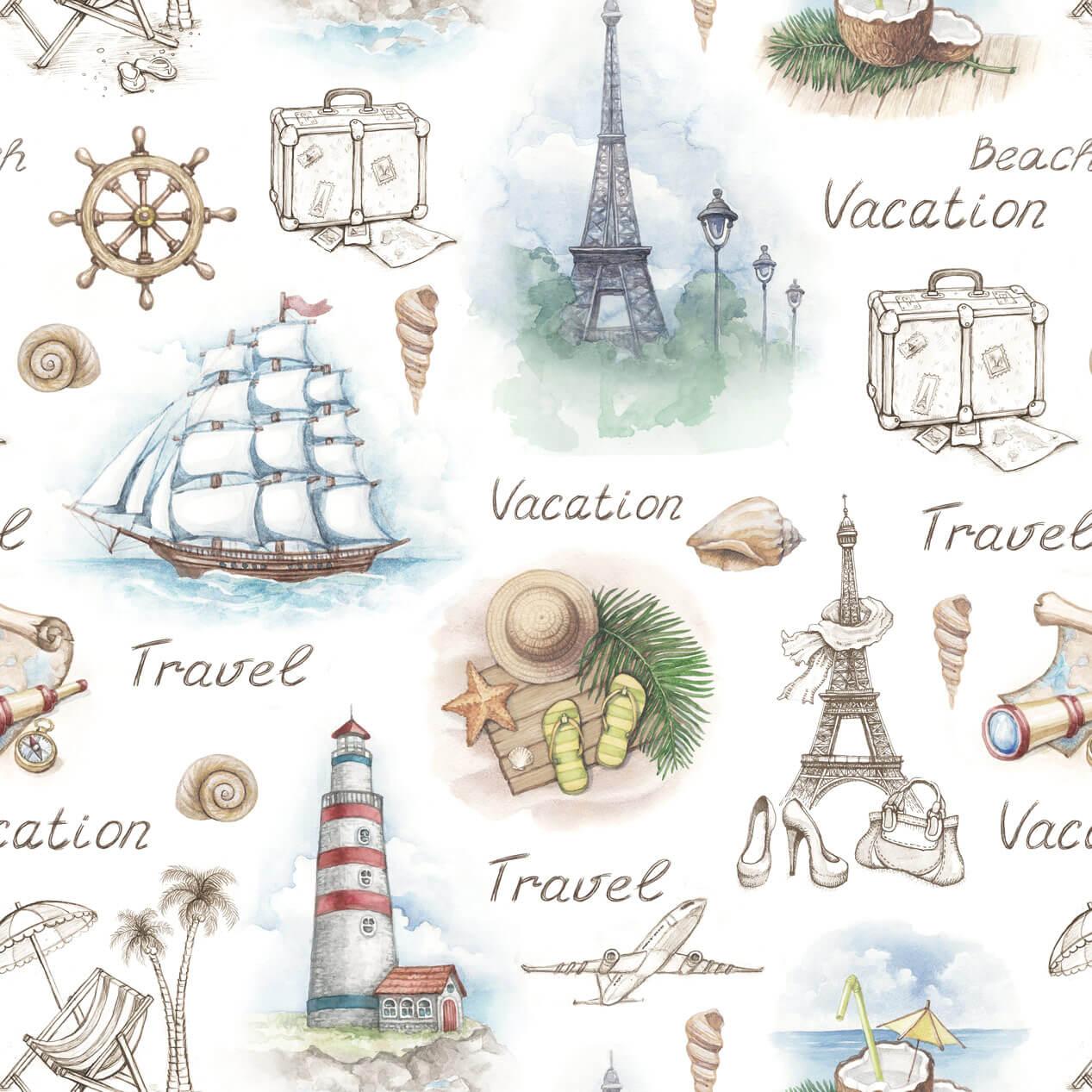 Papel de Parede Casual Viagens Navegação
