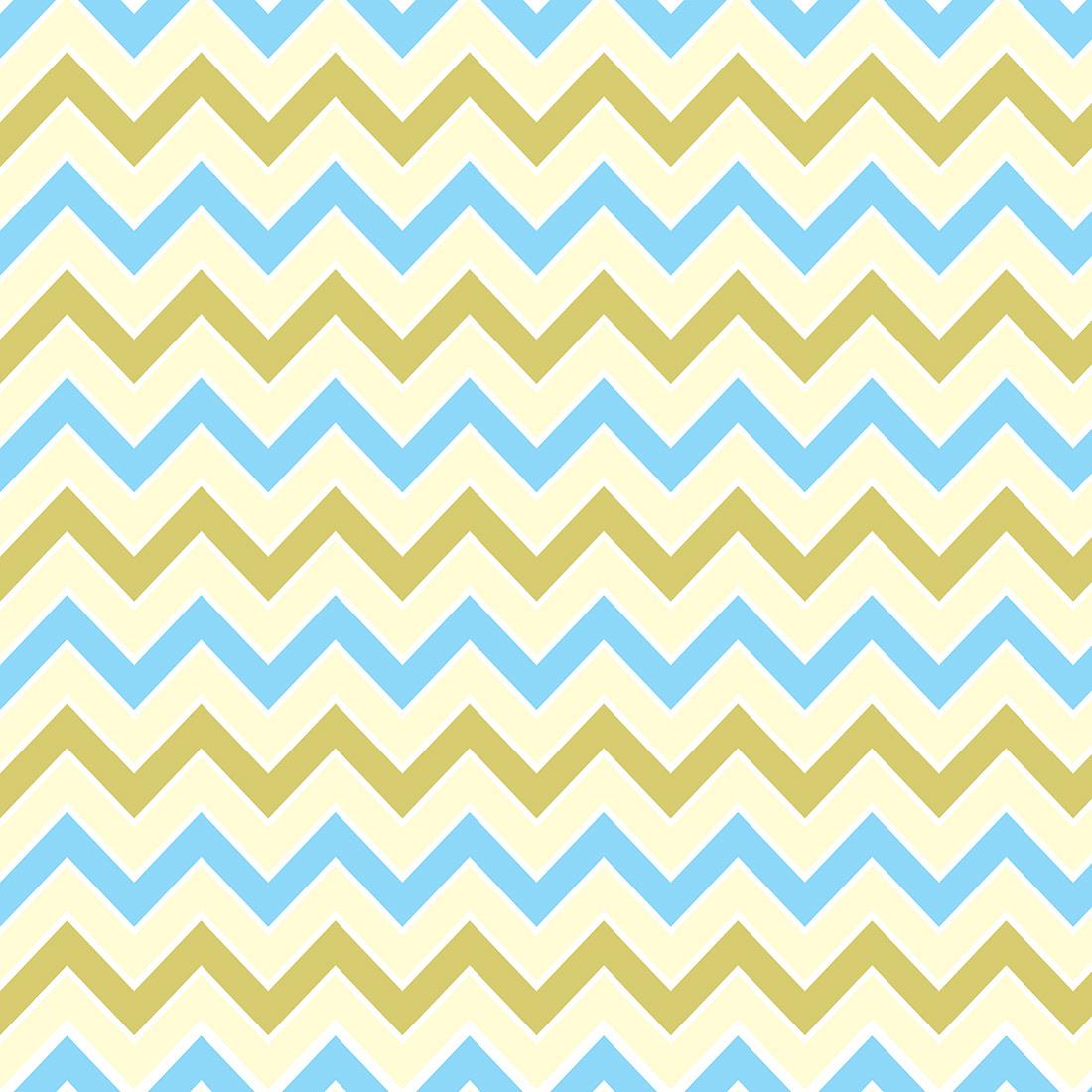Papel de Parede Chevron Amarelo e Azul