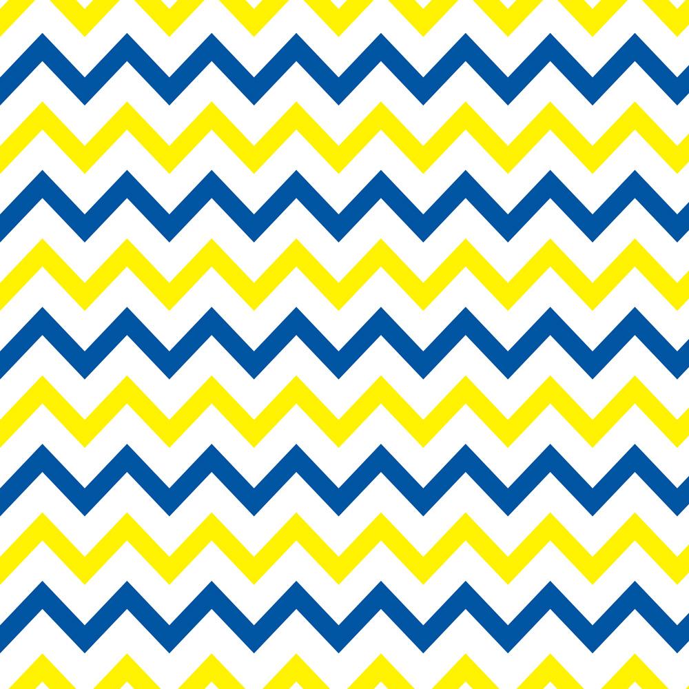 Papel de Parede Chevron Amarelo e Azul Marinho