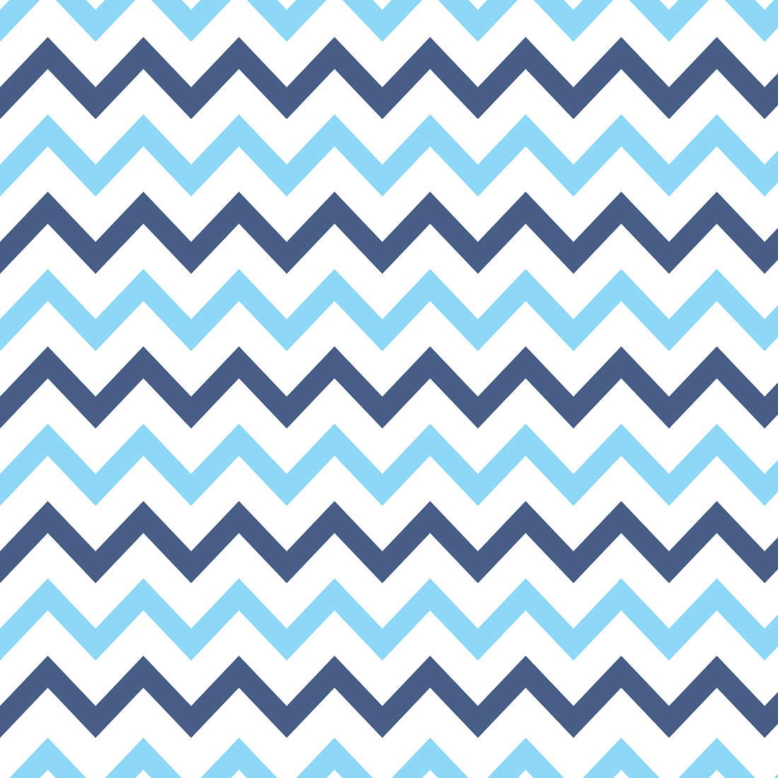 Papel de Parede Chevron Azul Claro e Azul Marinho