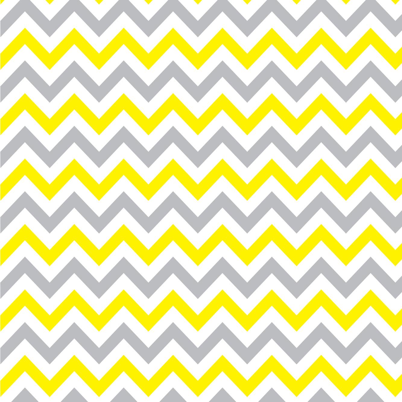 Papel de Parede Chevron Cinza e Amarelo