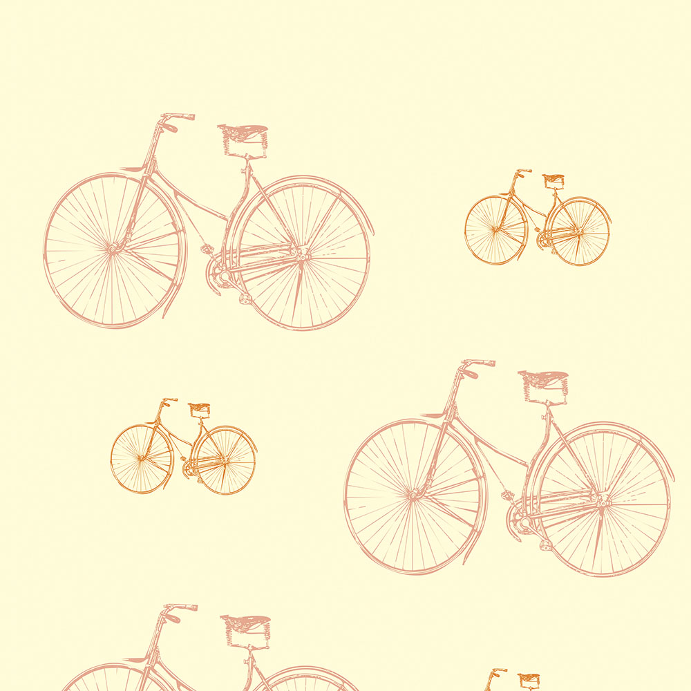 Papel de Parede Clássico Bicicleta