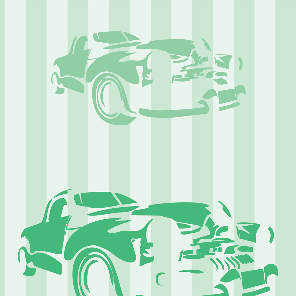 Papel de Parede Clássico Carro Verde