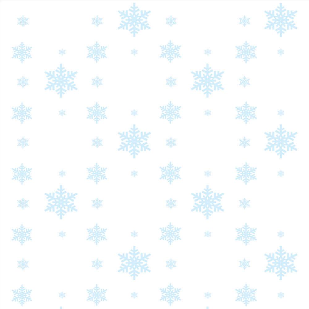 Papel de Parede Clássico Flocos Neve Fundo Branco