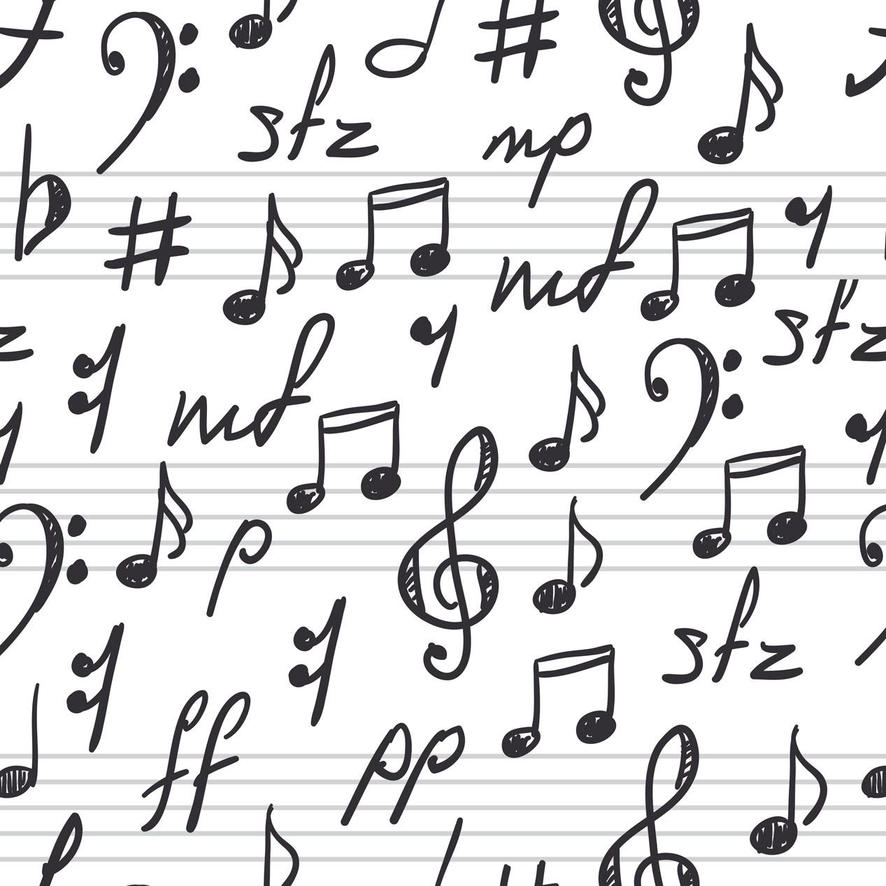 Papel de Parede Clássico Nota Musical