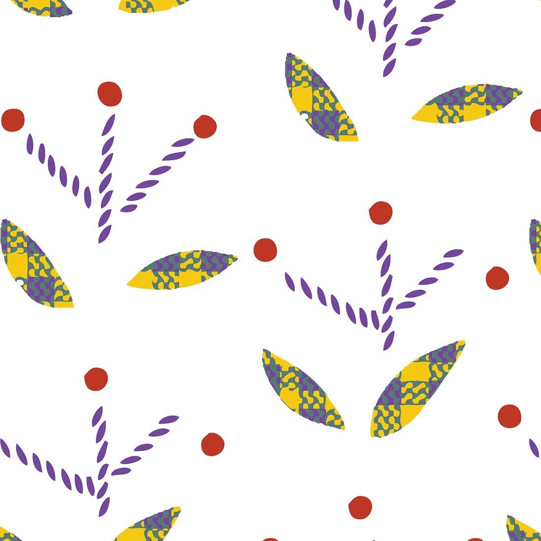 Papel de Parede Clássico Plantas Costuradas