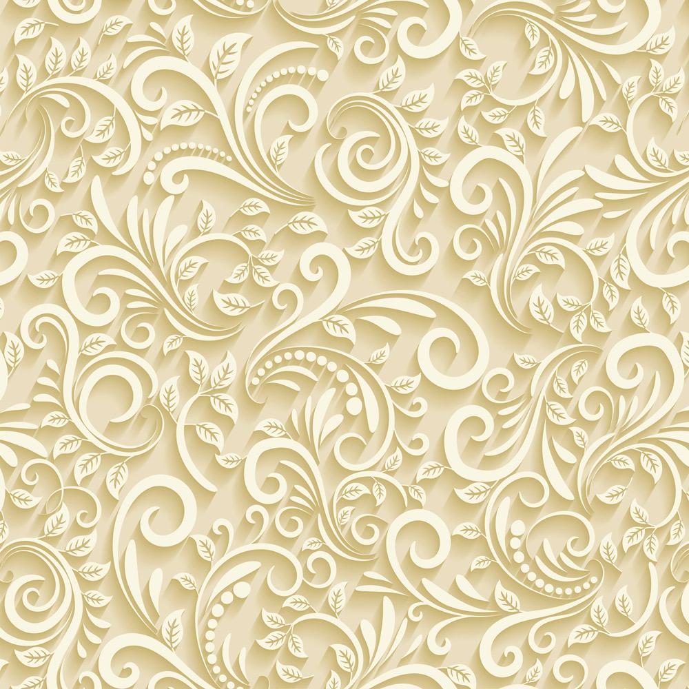 Papel de Parede Floral Amarelo Claro