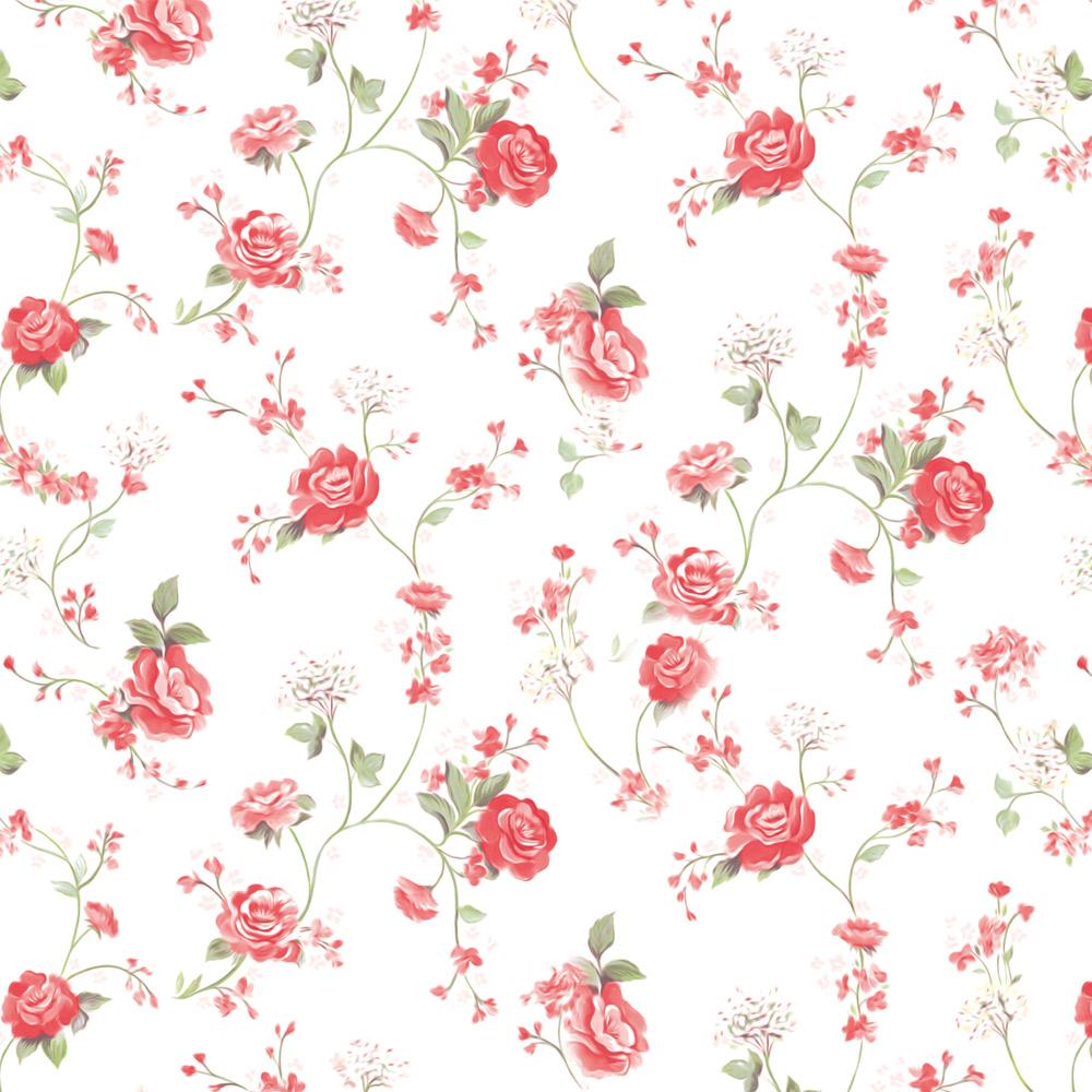 Papel de Parede Floral Chuva de Rosas Vermelhas