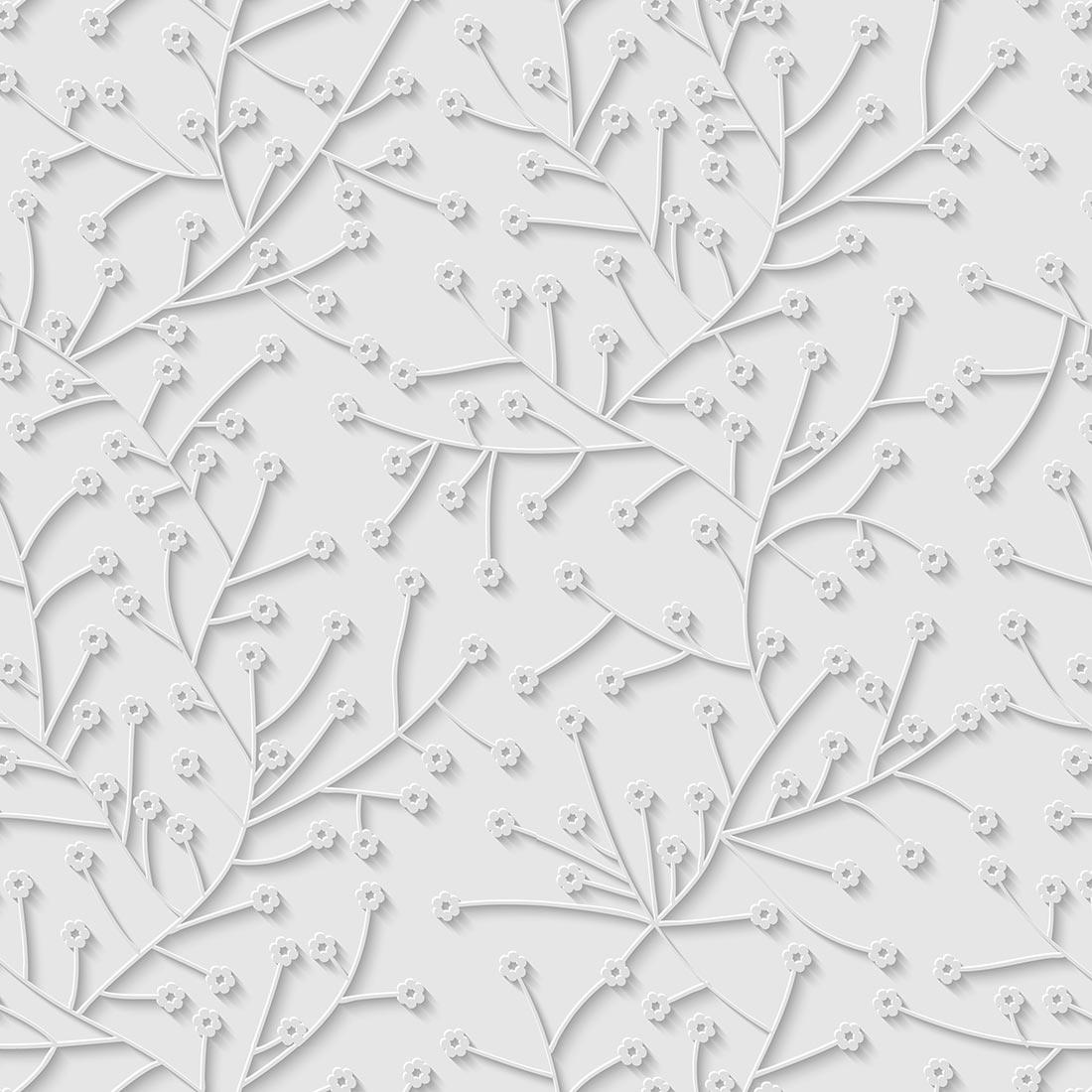 Papel de Parede Floral Florzinha Cinza