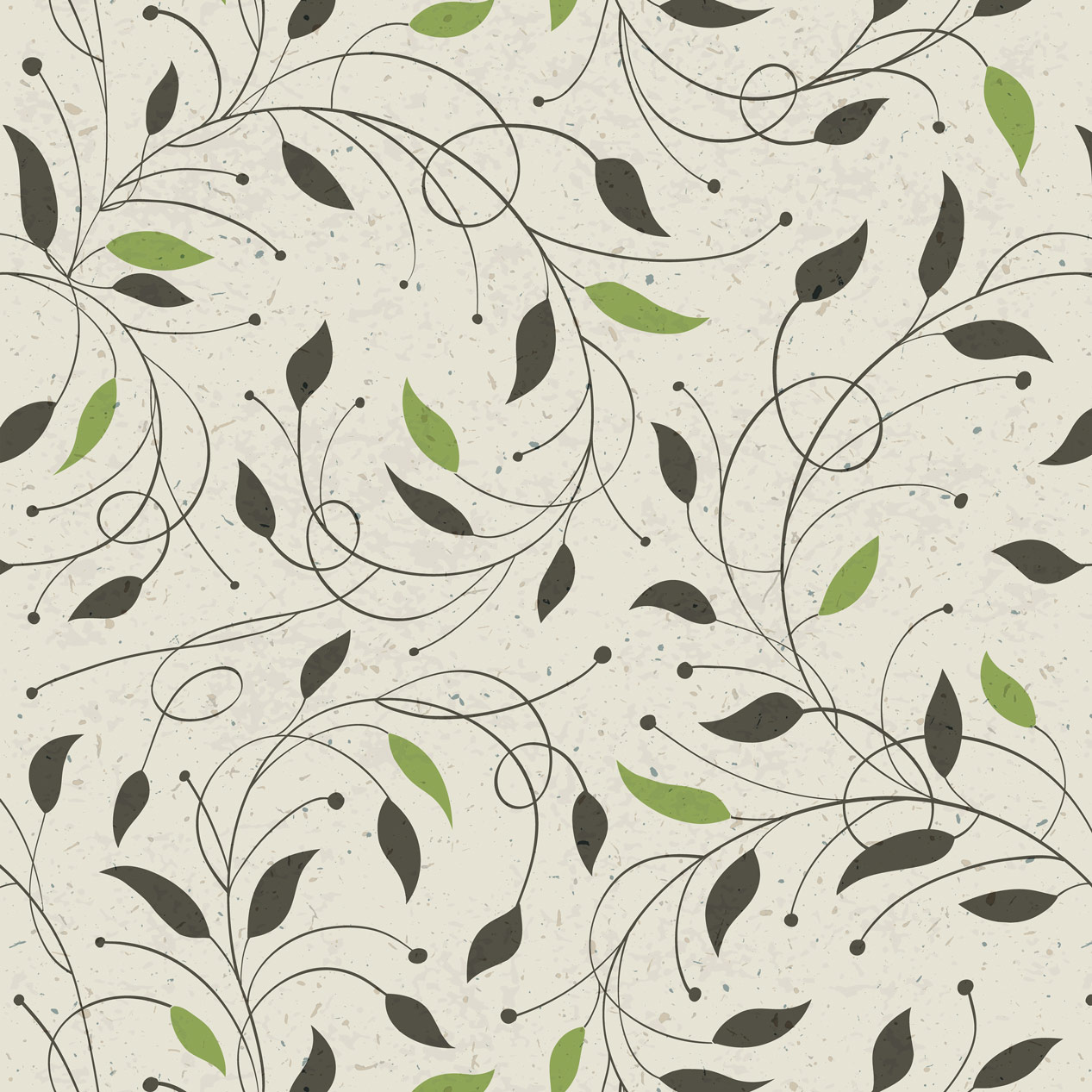 Papel de Parede Floral Folha Verde