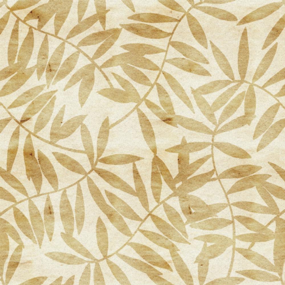 Papel de Parede Floral Folhas Douradas