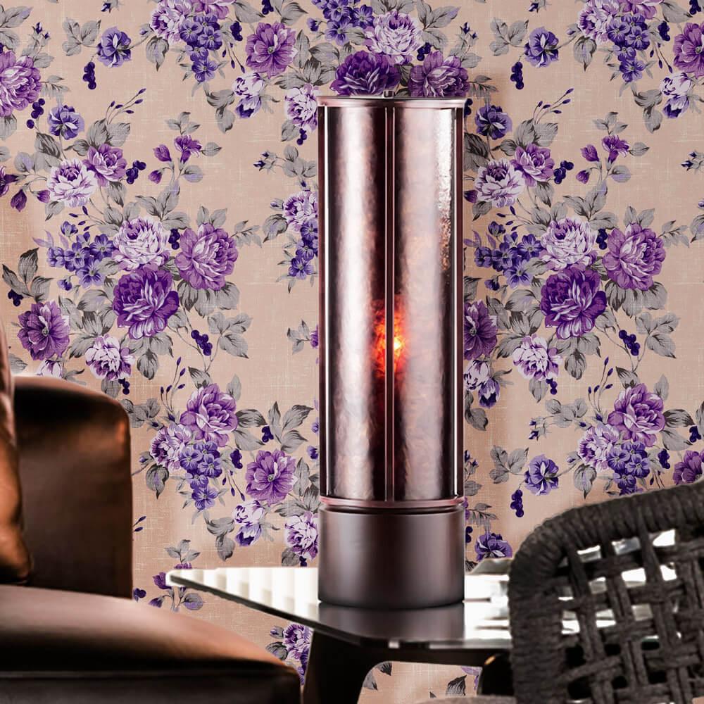 Papel de Parede Floral Lilás Fundo de Textura
