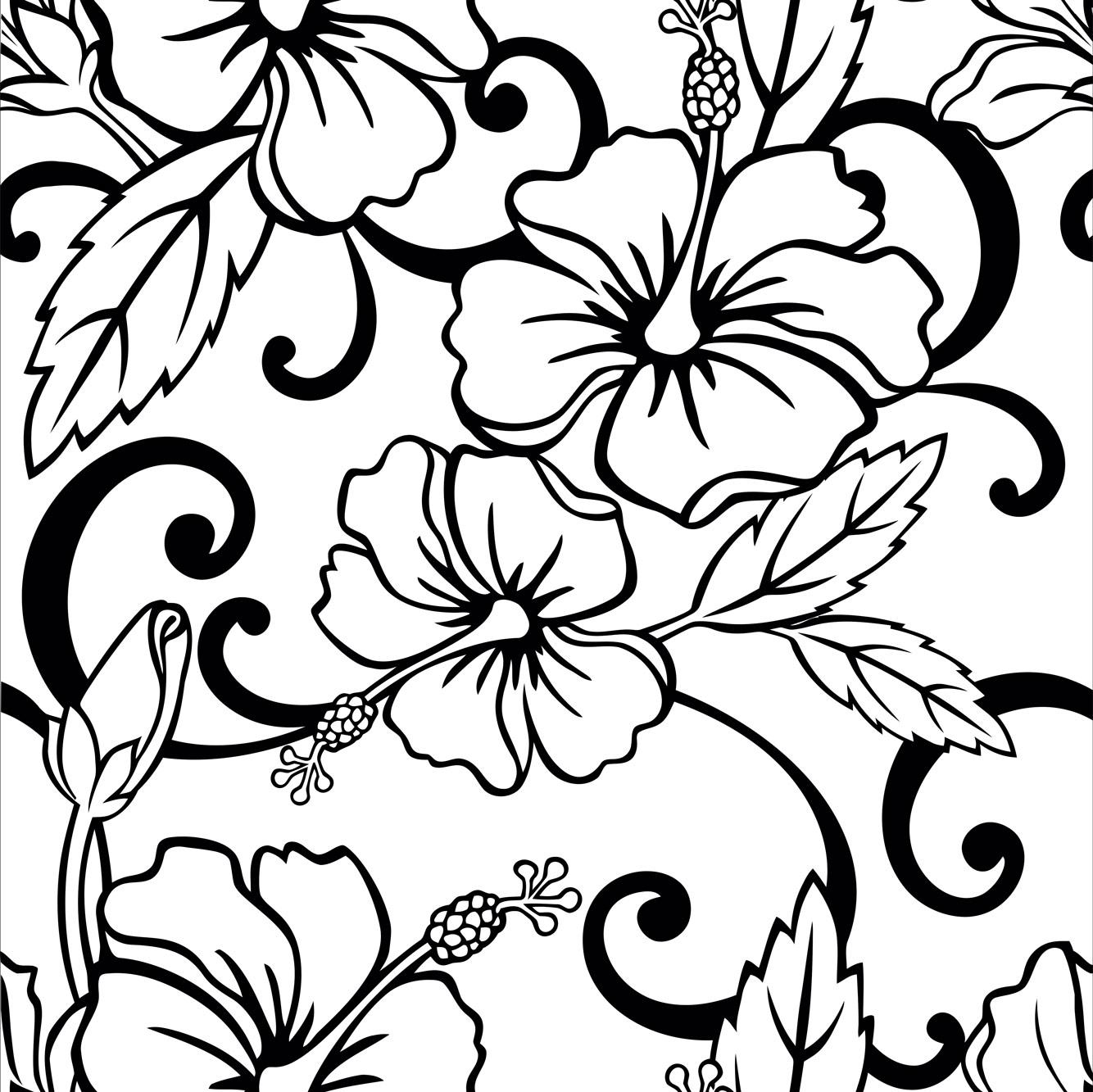 Papel de Parede Floral Lírio Preto