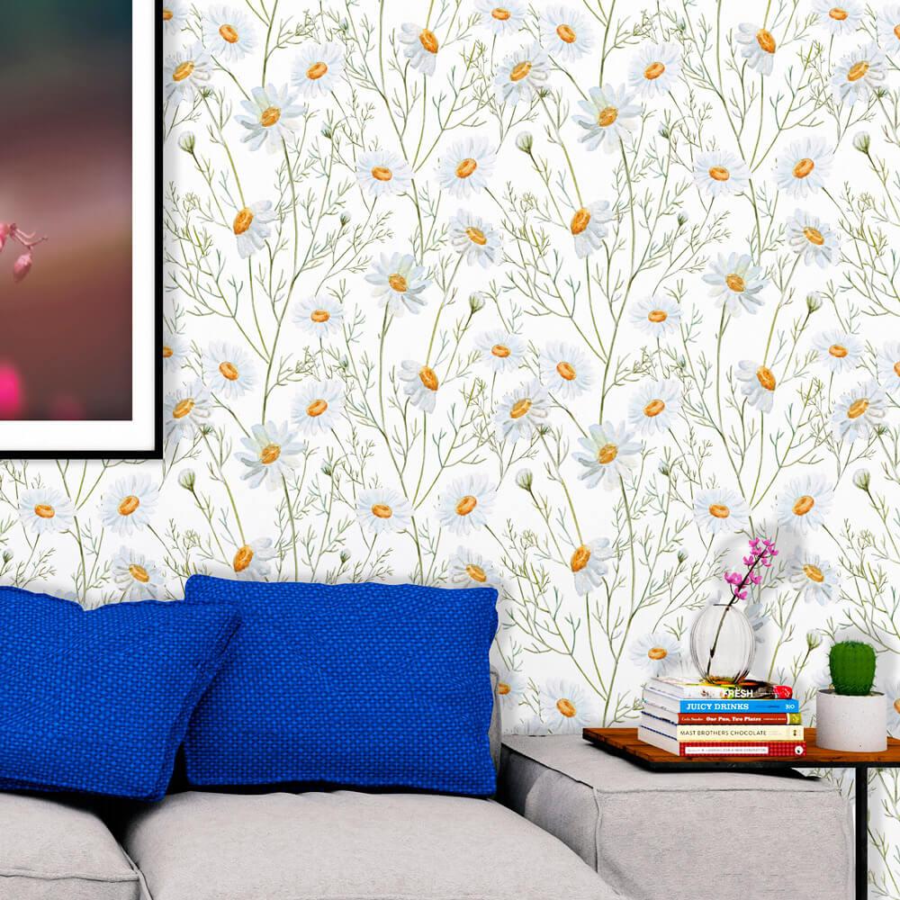 Papel de Parede Floral Margarida