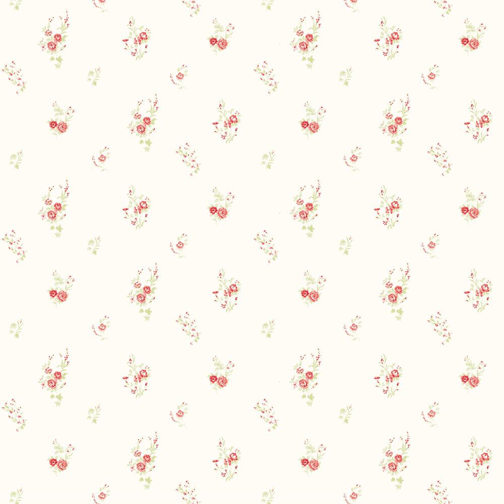 Papel de Parede Floral Mini Rosas