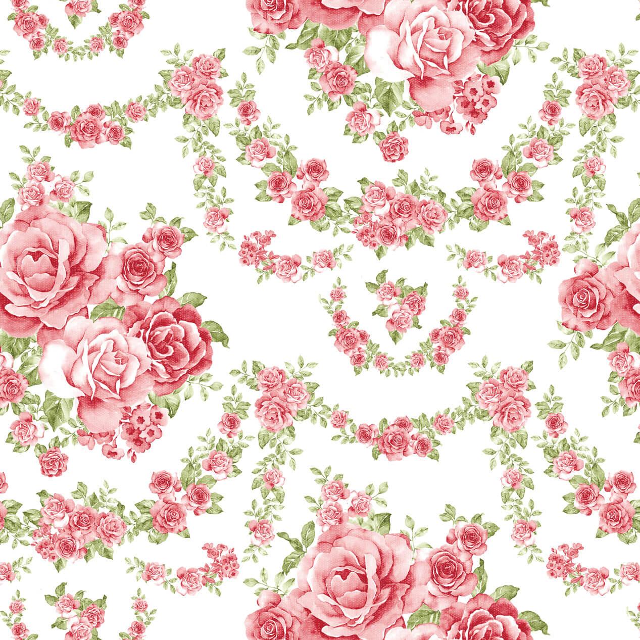 Papel de Parede Floral Mundo de Rosas