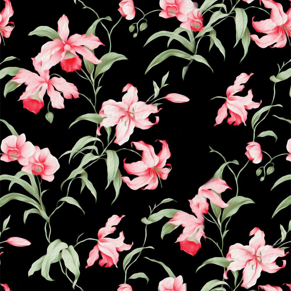 Papel de Parede Floral Orquídeas Rosa