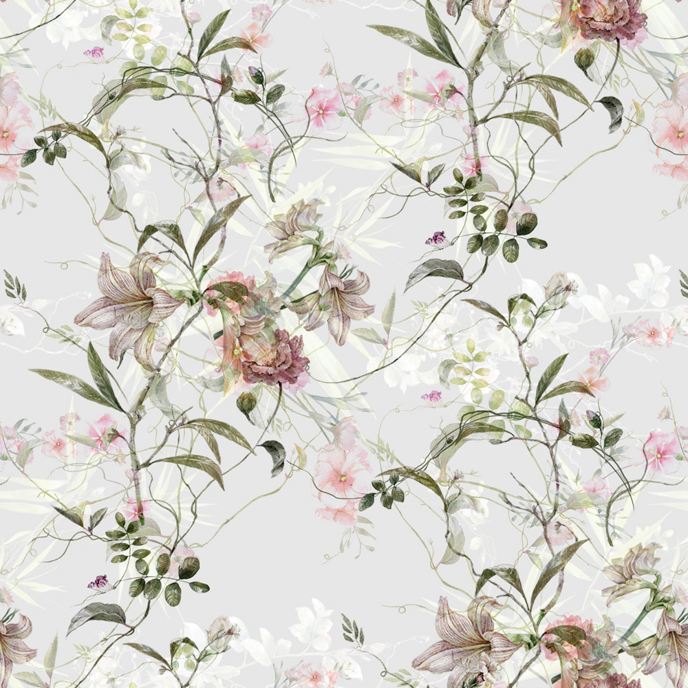 Papel de Parede Floral Orquídeas Tons de Rosa