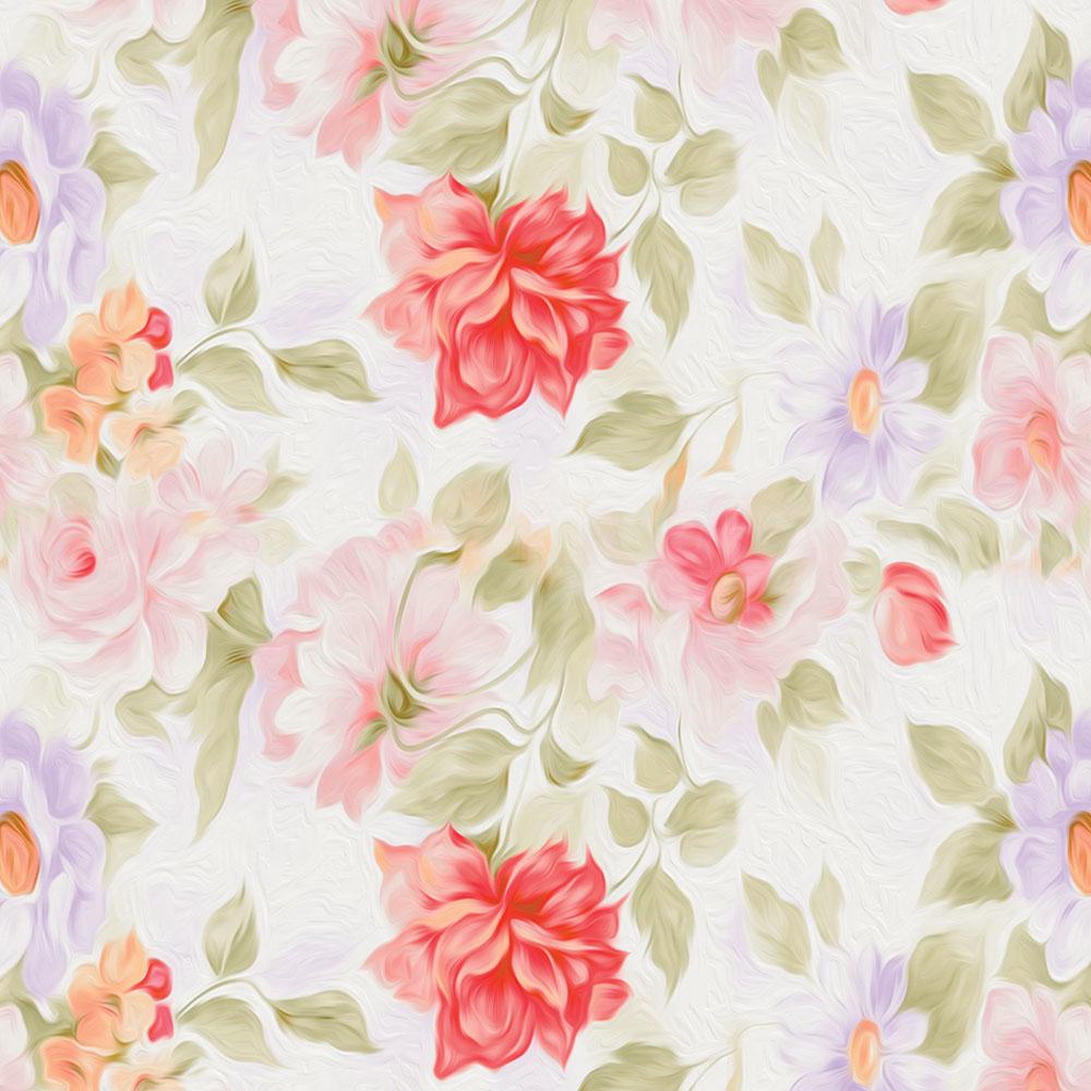 Papel de Parede Floral Ramos Desenhados