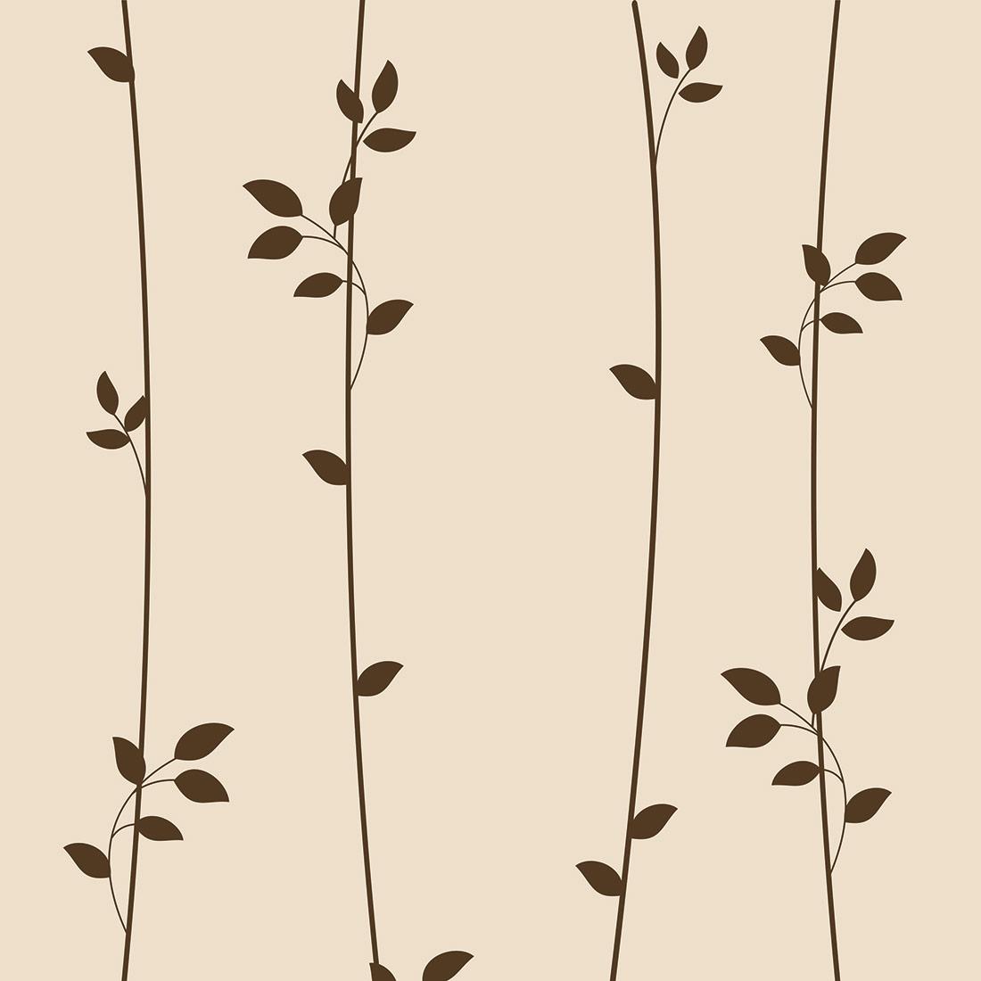 Papel de Parede Floral Ramos Pêssego