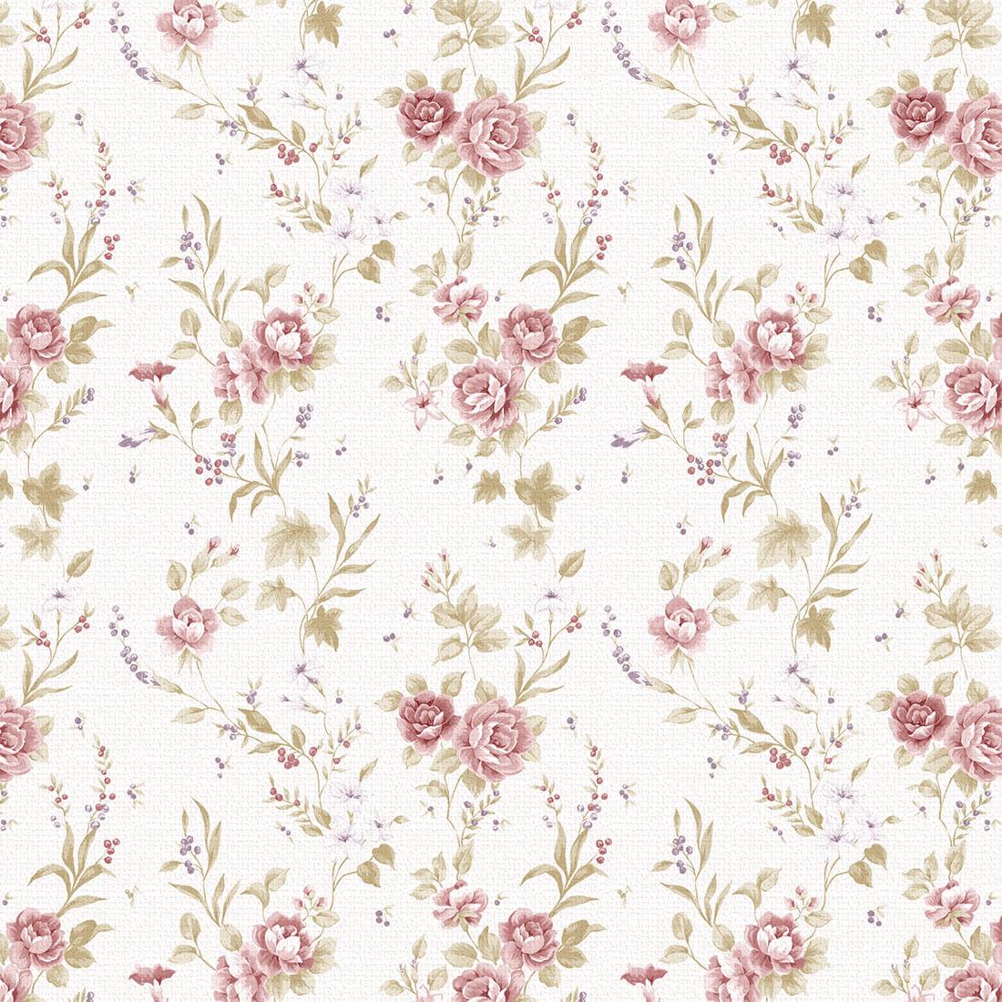 Papel de Parede Floral Rosa com Estilo Textura