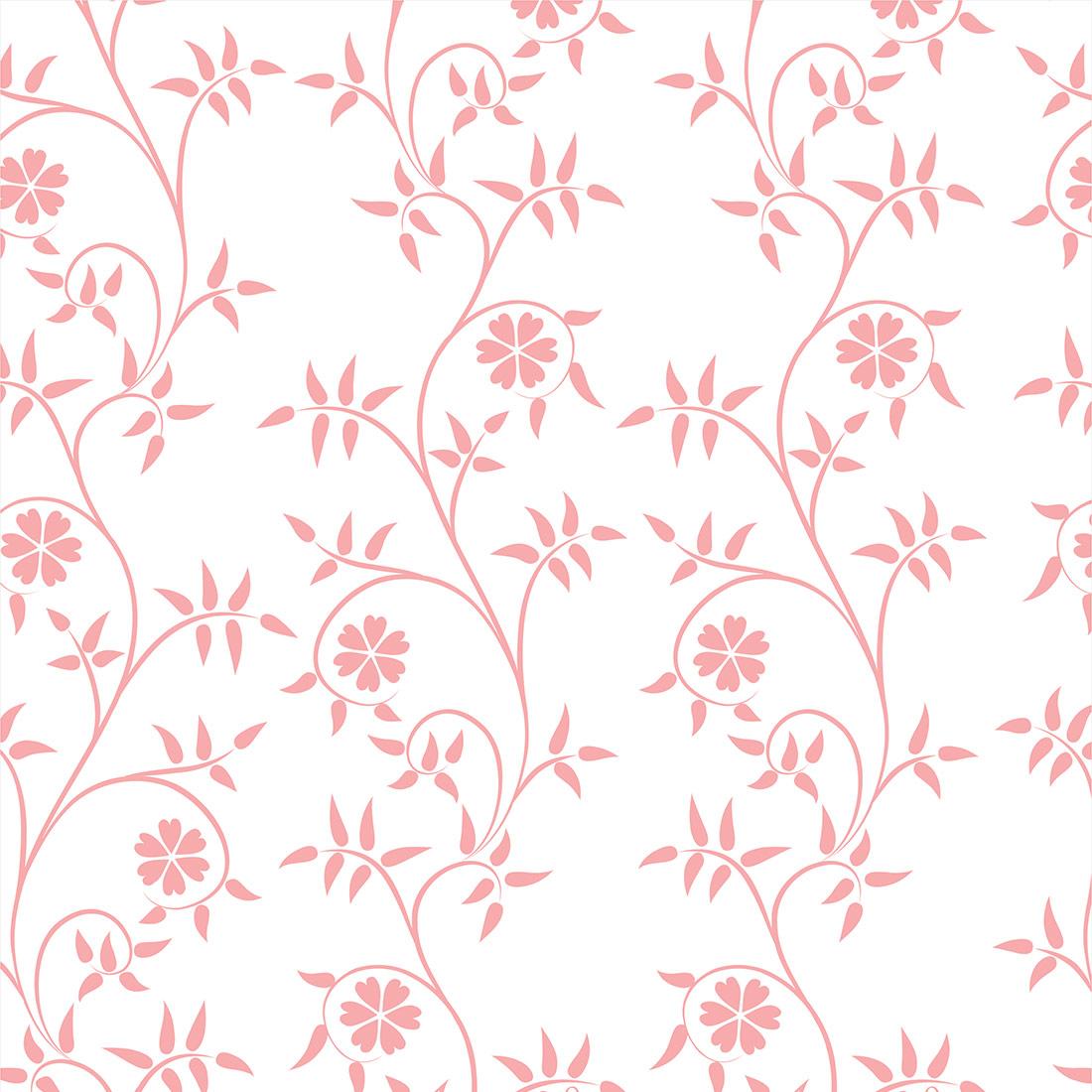 Papel de Parede Floral Rosa Delicada