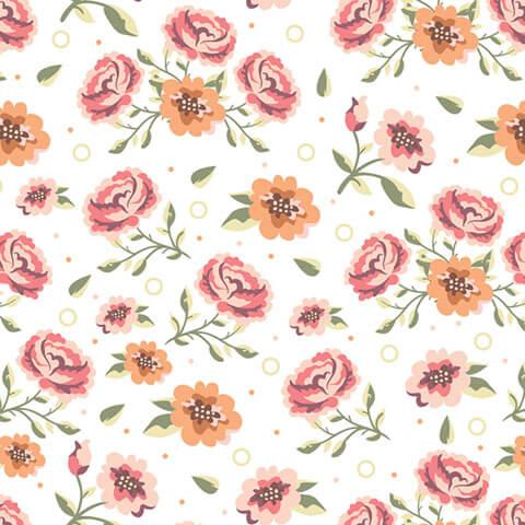 Papel de Parede Floral Rosas ao Vento