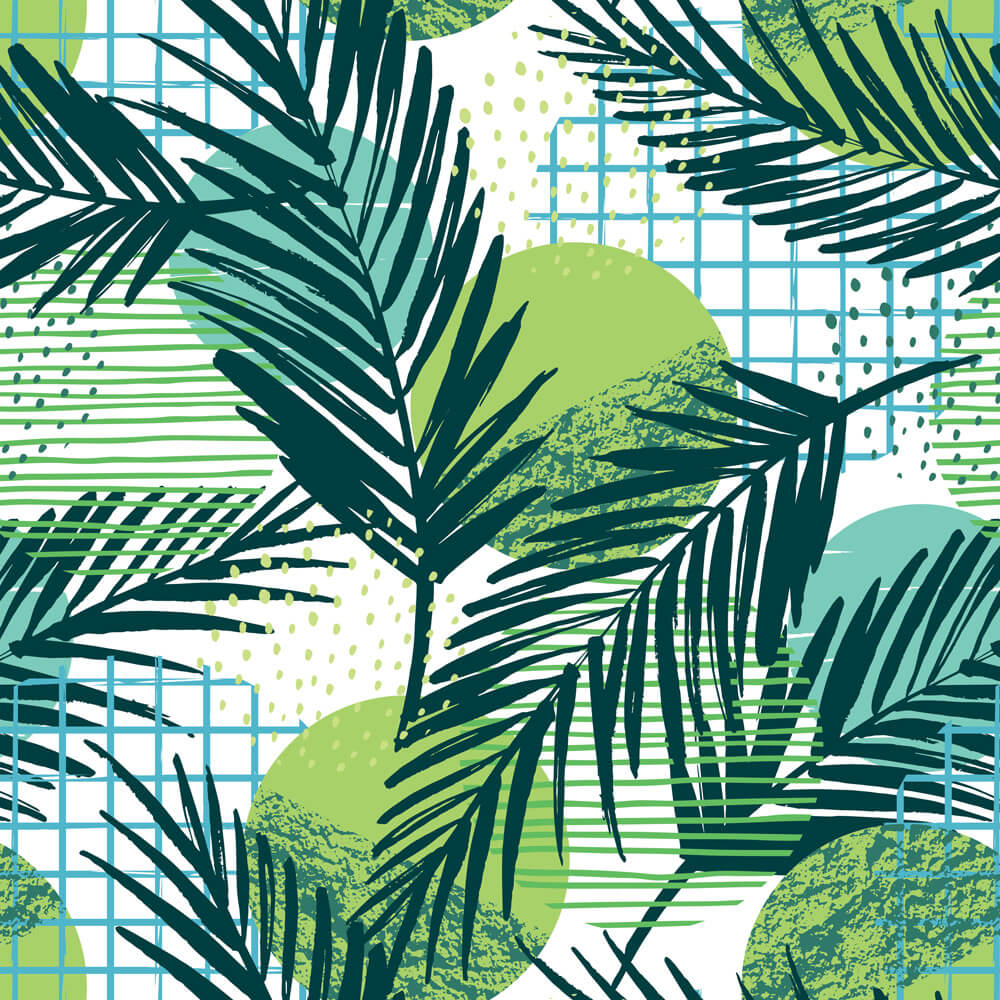 Papel de Parede Floral Tropical Verde