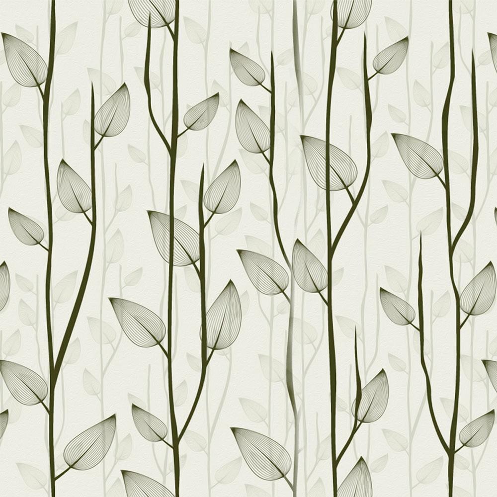 Papel de Parede Floral Verde Oliva