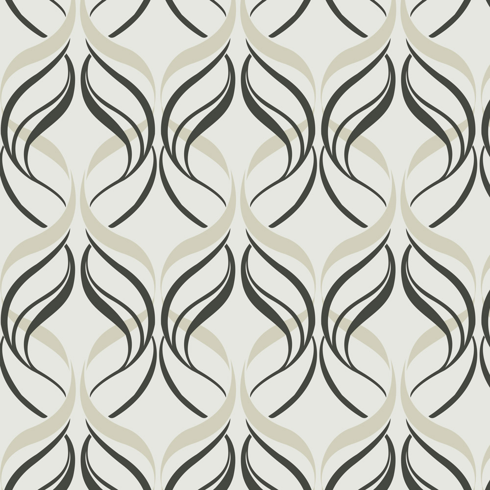 Papel de Parede Geométrico Abstrato Linhas Tons de Cinza