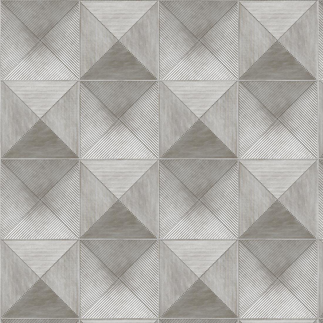 Papel de Parede Geométrico Cinza Cruzado