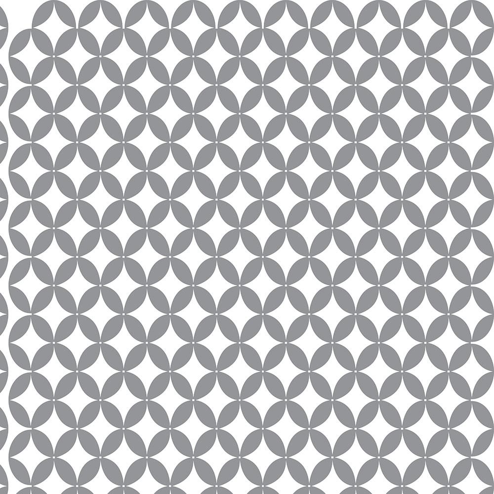 Papel de Parede Geométrico Cinza e Branco
