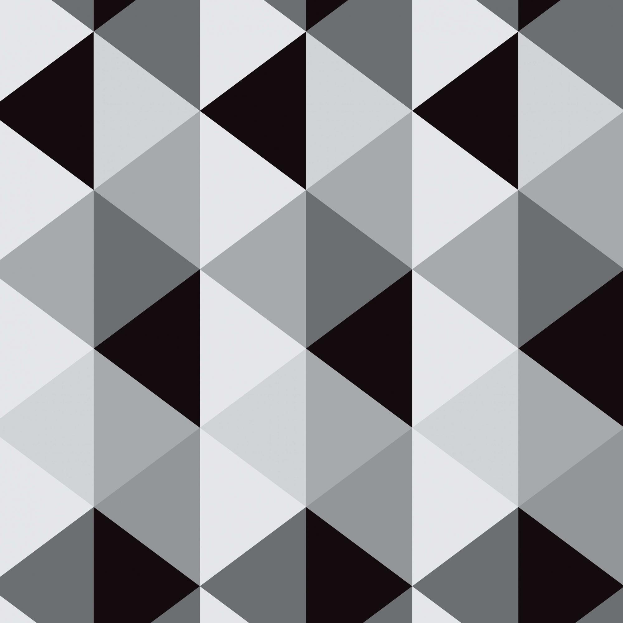 Papel de Parede Geométrico Cinza e Preto