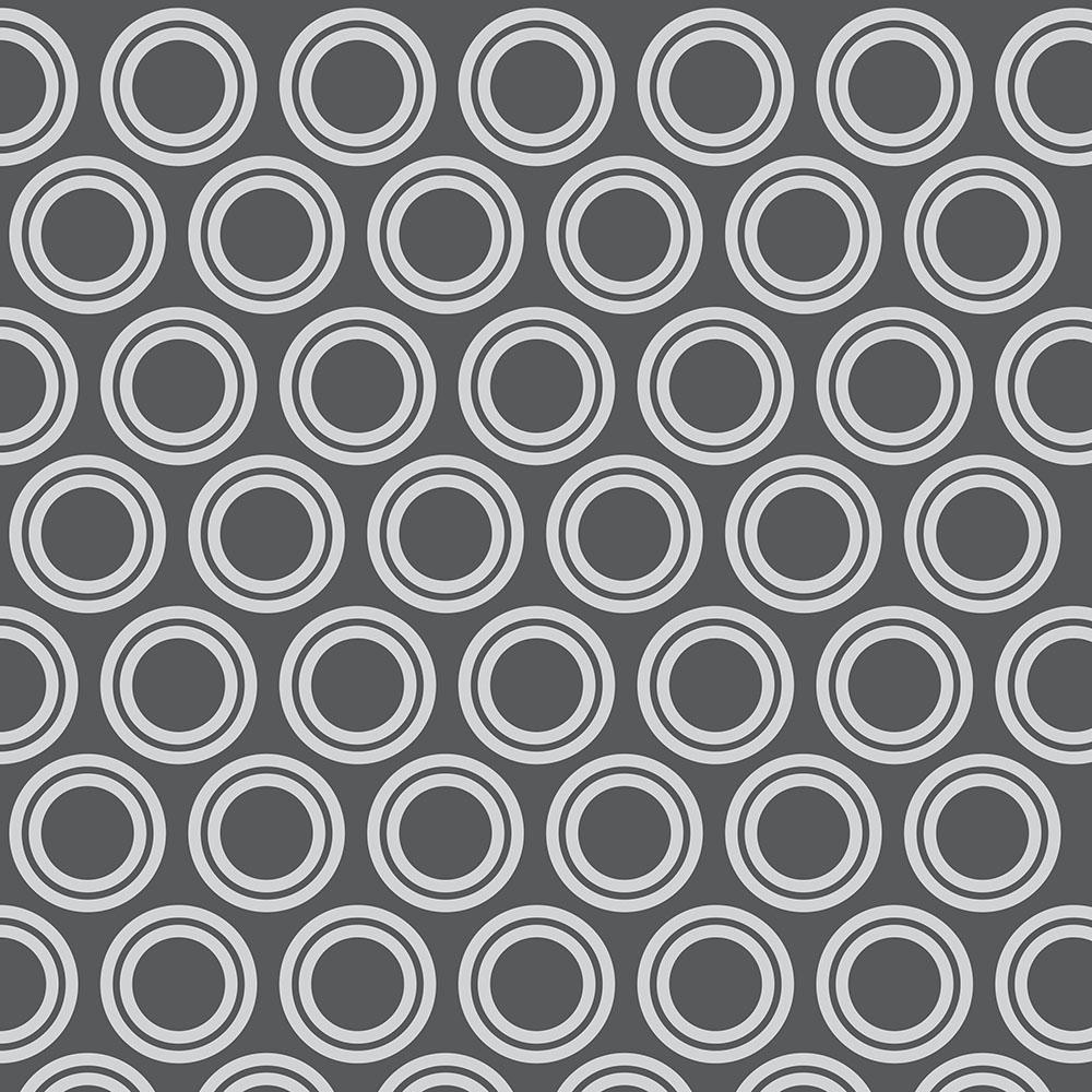 Papel de Parede Geométrico Círculos Cinza