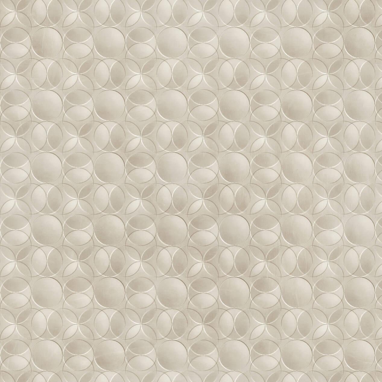 Papel de Parede Geométrico Círculos Tons de Cinza