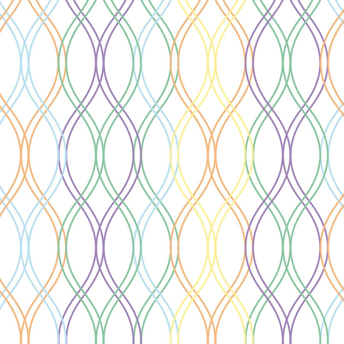 Papel de Parede Geométrico Correntes Coloridas