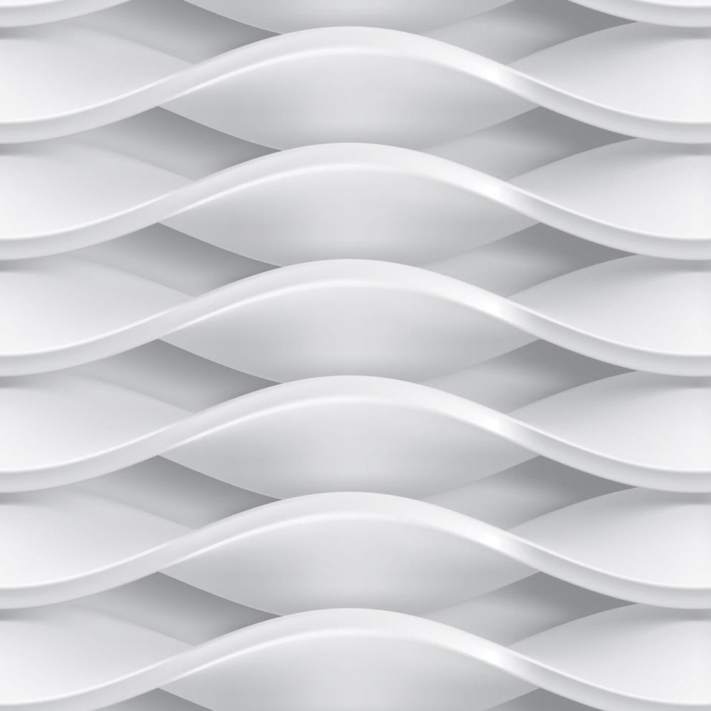 Papel de Parede Geométrico Efeito Textura Prata