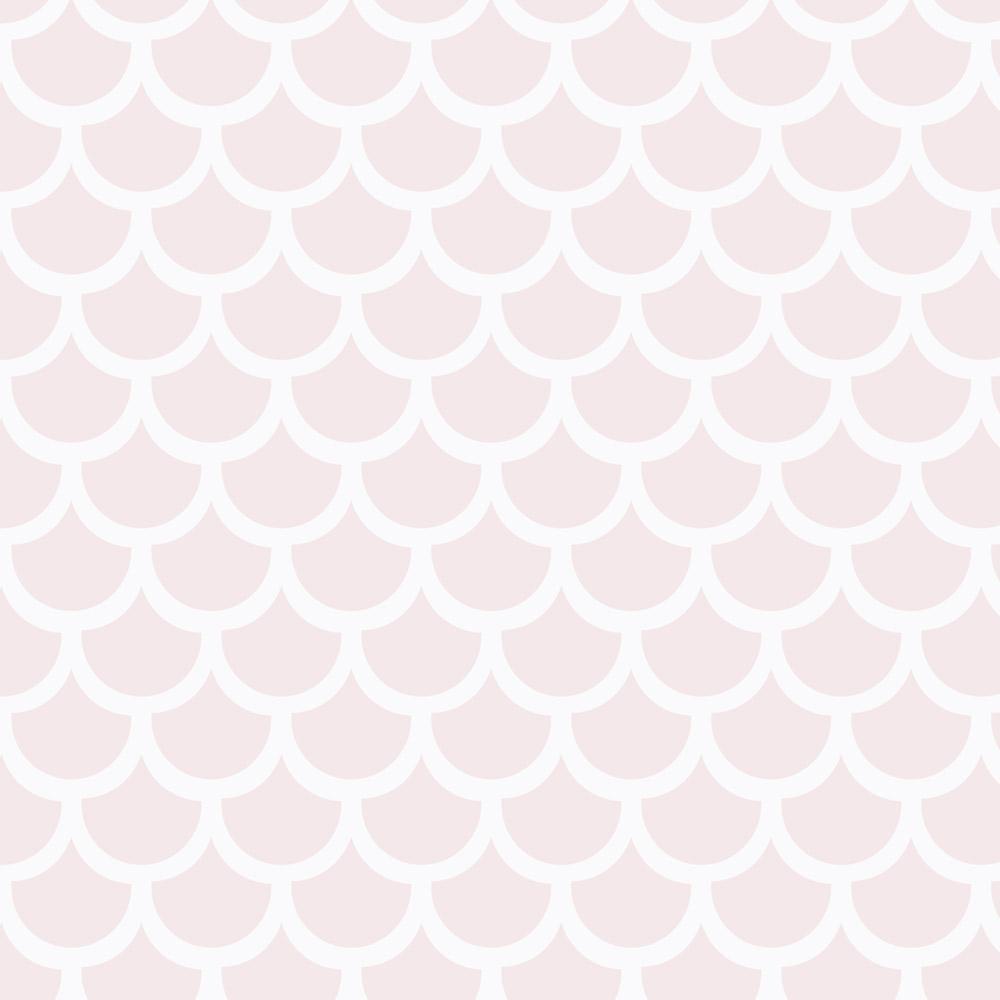 Papel de Parede Geométrico Escamas Rosa Bebê