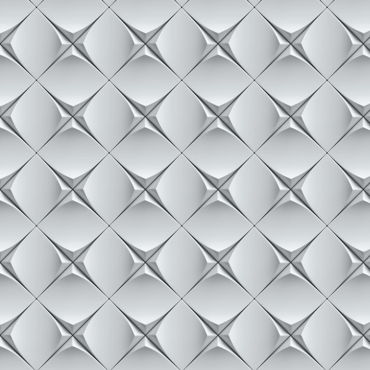 Papel de Parede Geométrico Estilo 3D Efeito Metal