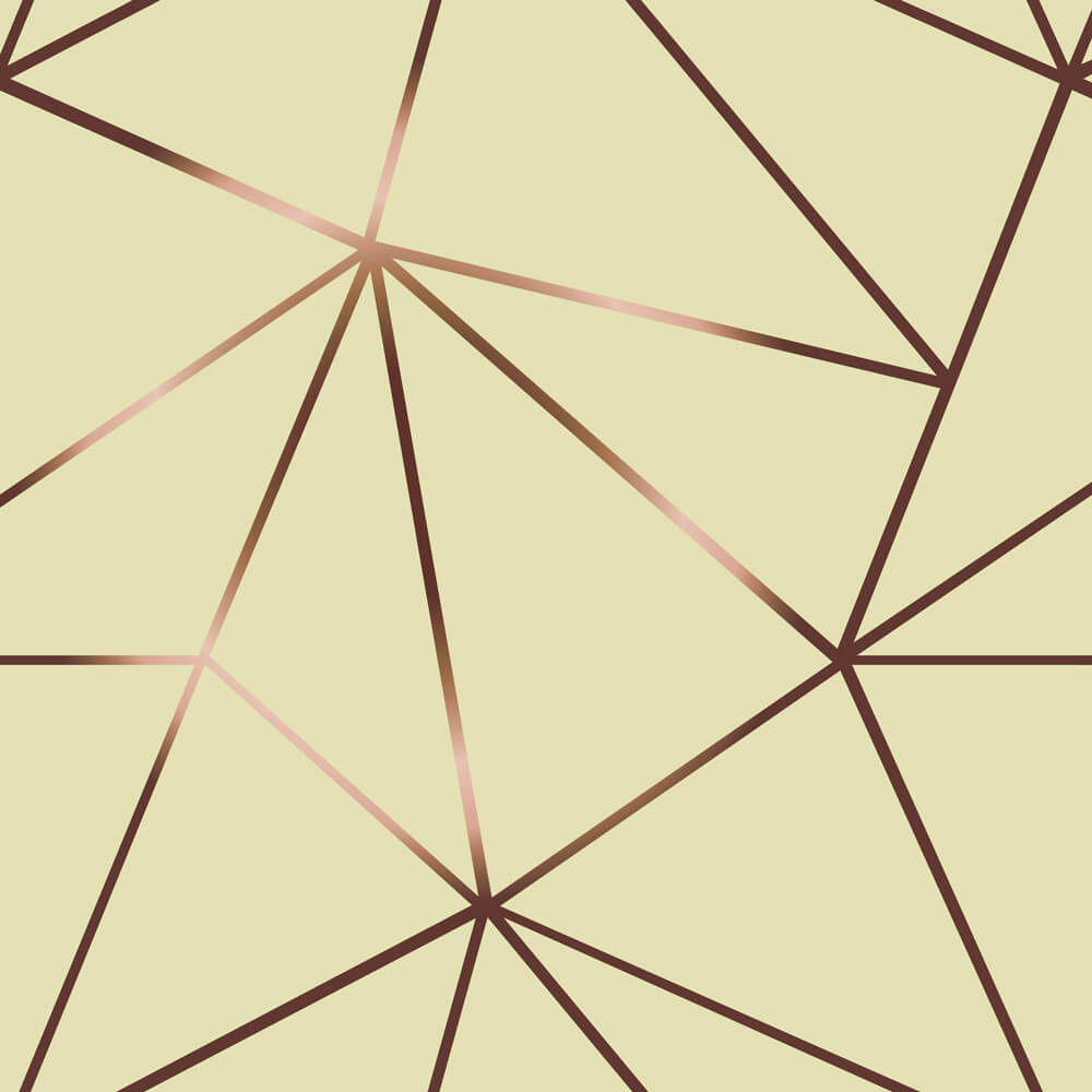Papel De Parede Geométrico Fendi Zara Rose Fundo Tons de Bege
