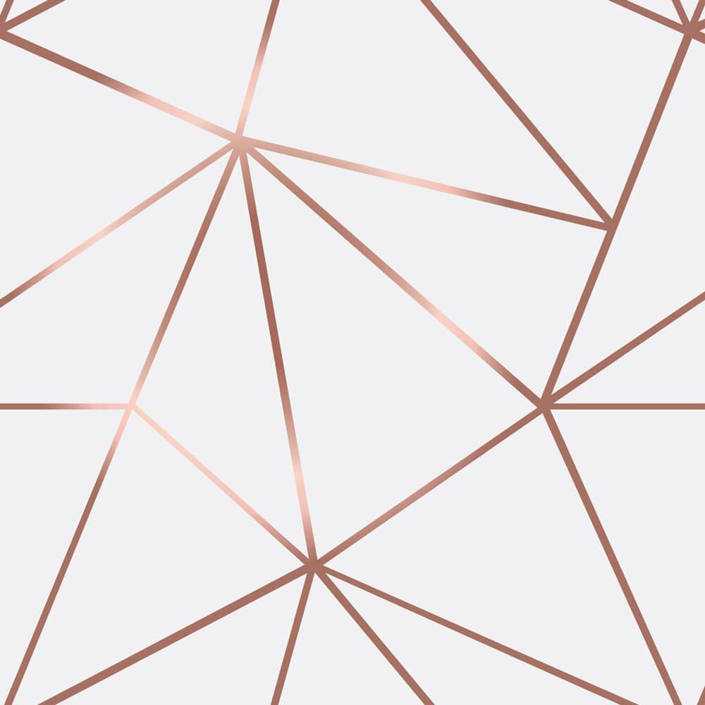 Papel De Parede Geométrico Fendi Zara Tons Claros Com Rosê Gold