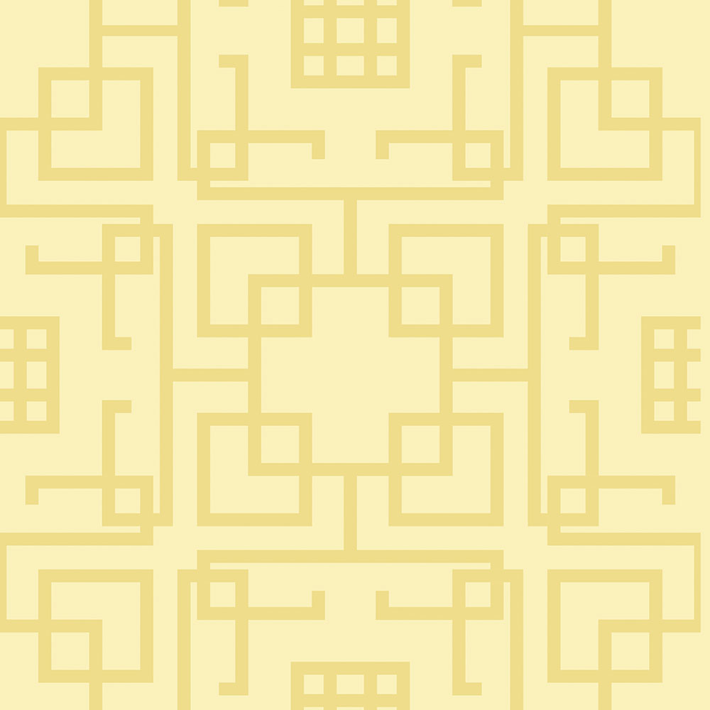 Papel de Parede Geométrico Formas Amarelo