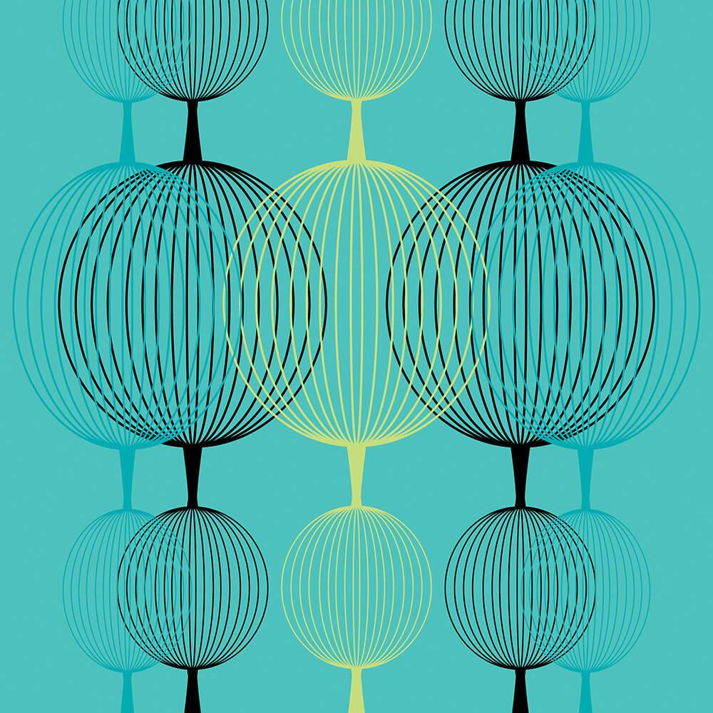 Papel de Parede Geométrico Globos