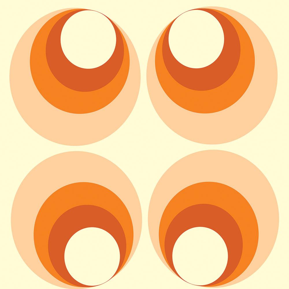 Papel de Parede Geométrico Laranja