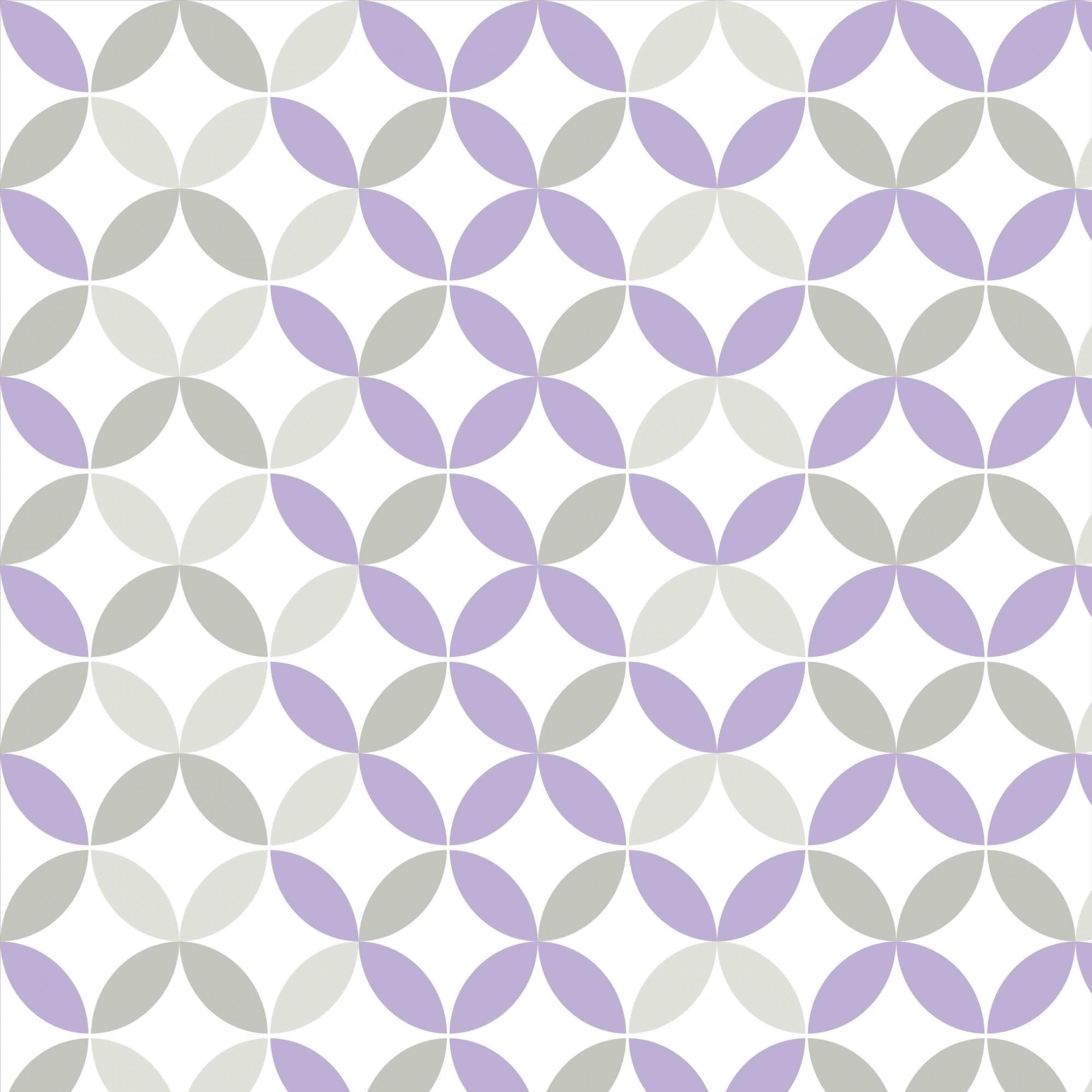 Papel de Parede Geométrico Lilás e Cinza