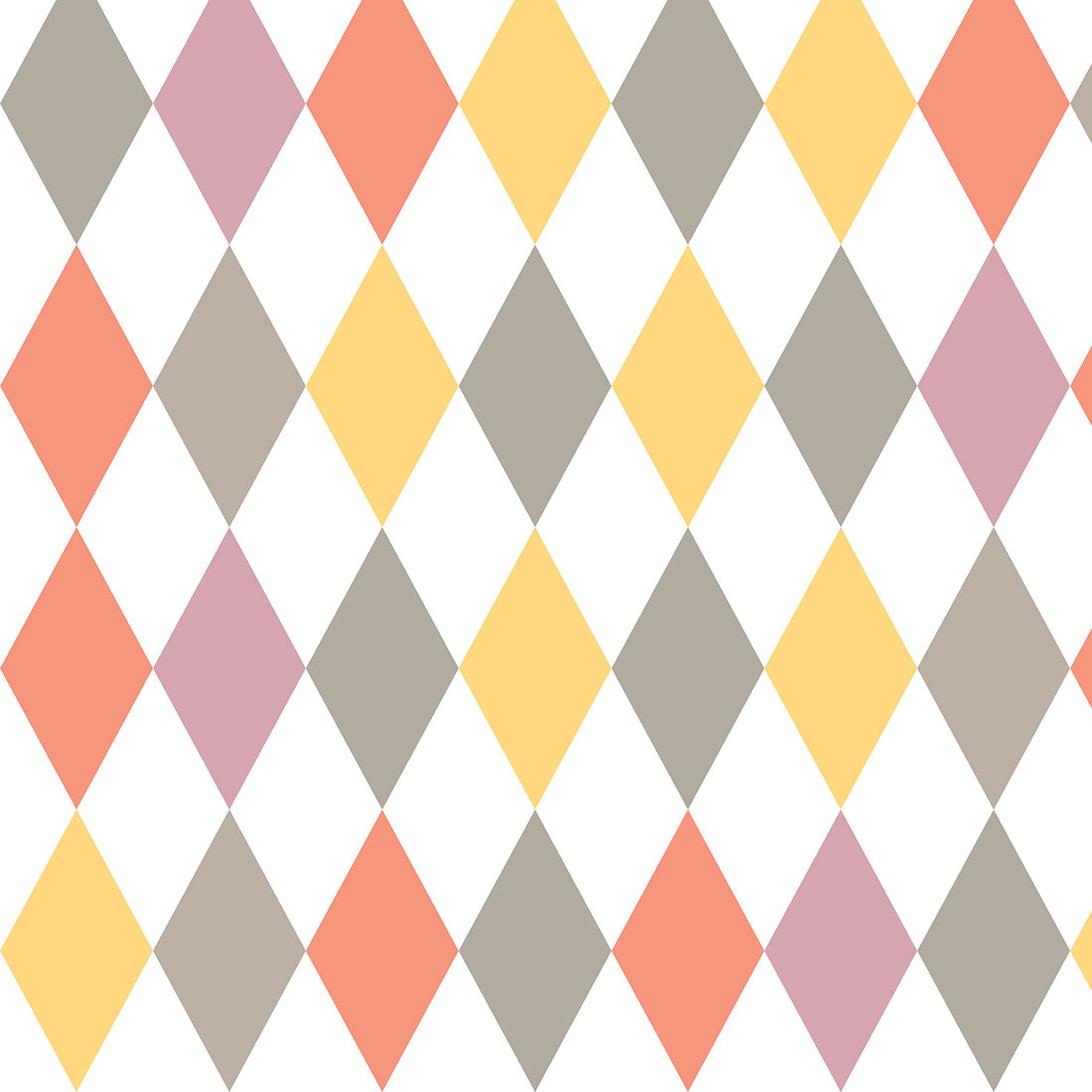 Papel de Parede Geométrico Losango Colorido