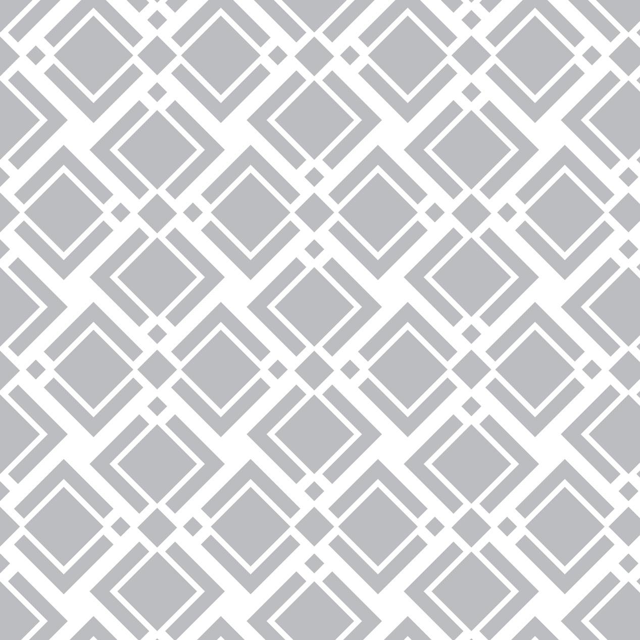 Papel de Parede Geométrico Losangos e Formas Cinza