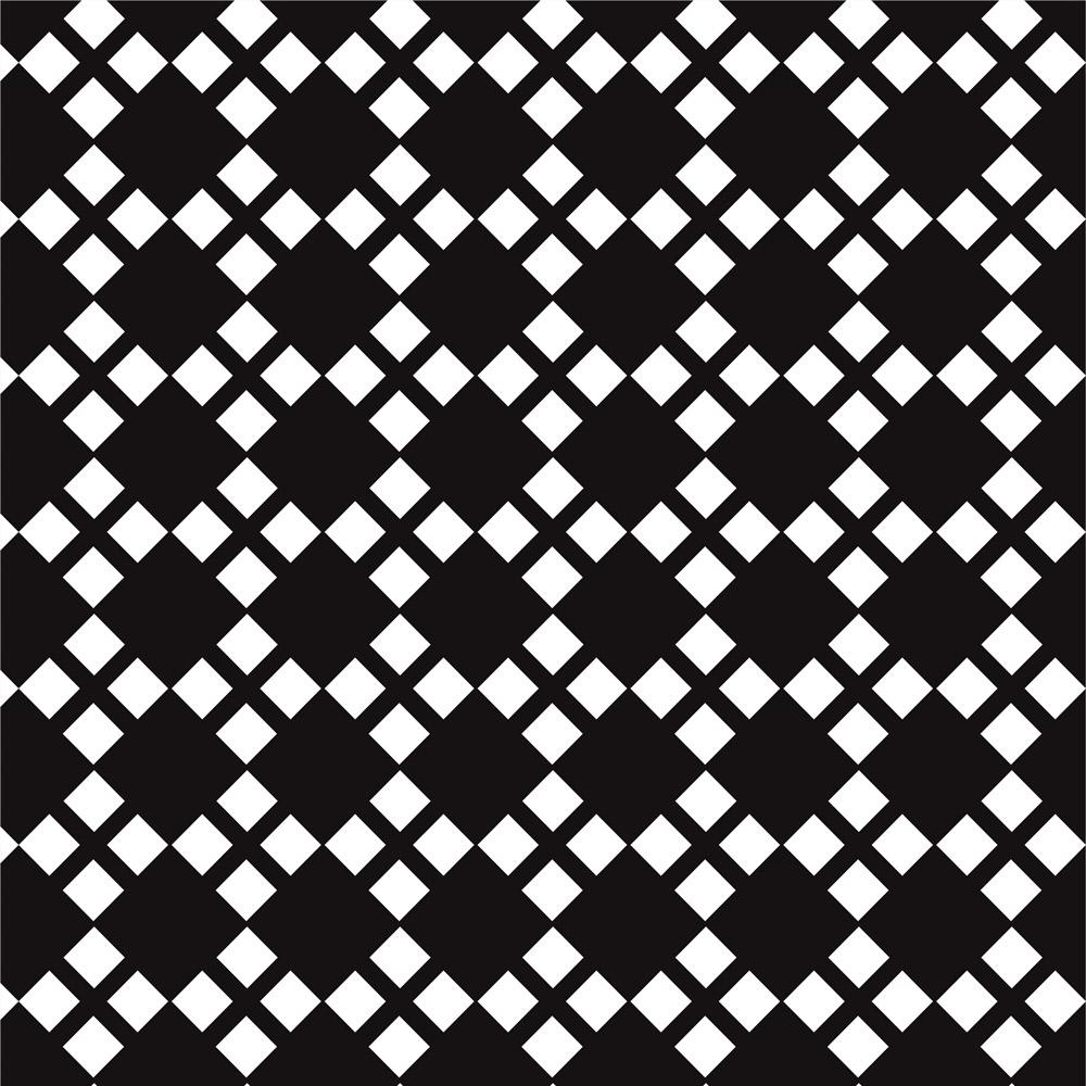 Papel de Parede Geométrico Losangos Preto e Branco