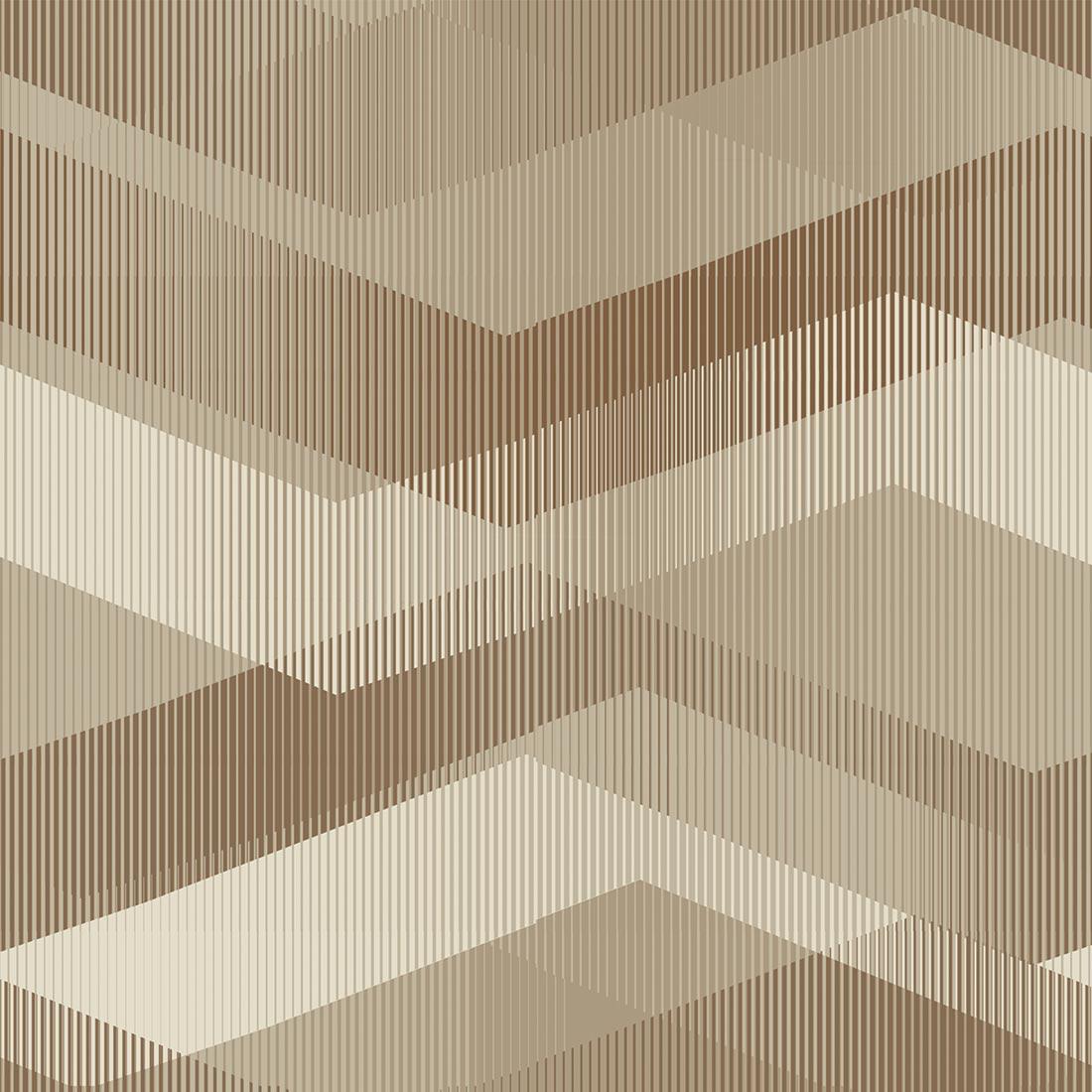 Papel de Parede Geométrico Marrom e Bege