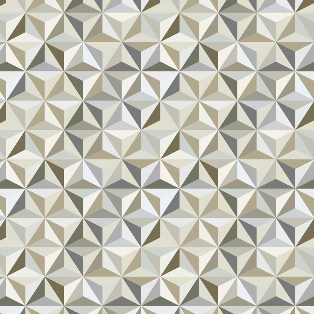 Papel de Parede Geométrico Mini Triângulos Efeito 3D
